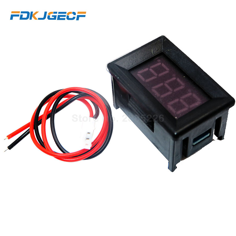 Digital Voltmeter Two Wires LED Display Red DC2.5-30V Digital Panel Voltage Meter Voltage Detector Monitor