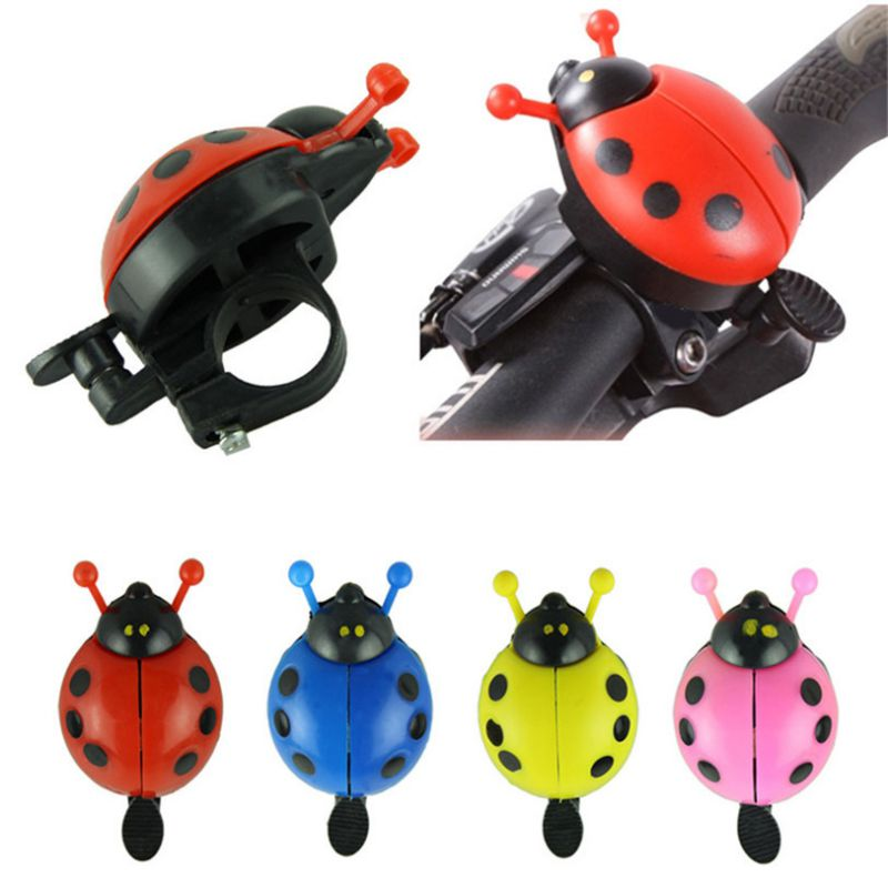 Ladybug Shape Children Bike Bell Durable Steel Plastic Mountain Bike Road Bicycle Handlebar Alarm Horn Kids Bike Accessories