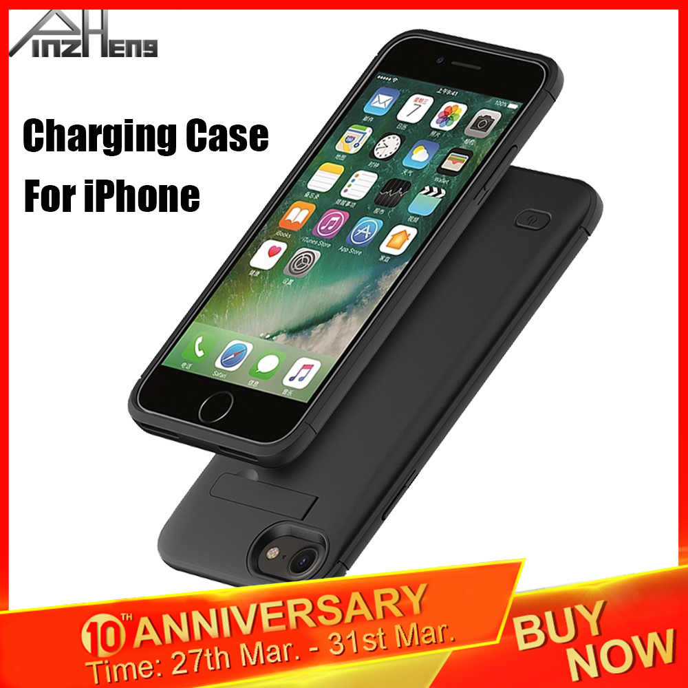 PINZHENG 4000mAh Ultra Slim Battery Case For IPhone 6 6s 7 8 Plus Charging Case For IPhone X XR Xs Max Battery Charger Case