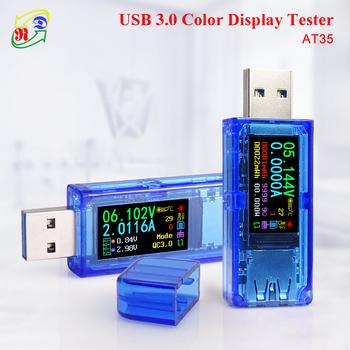 RD AT35 AT34 5 cyfr USB 3 0 kolorowy wyświetlacz LCD woltomierz amperomierz miernik napięcia prądu multimetr ładowania baterii power bank USB Tester tanie i dobre opinie Elektryczne 1-9999 9 button Cyfrowy wyświetlacz 0-4 0000A 3 700-30 000 64mmx22mmx12mm 3 700-30 000V 0 001V 0 0001A 27g(package included)