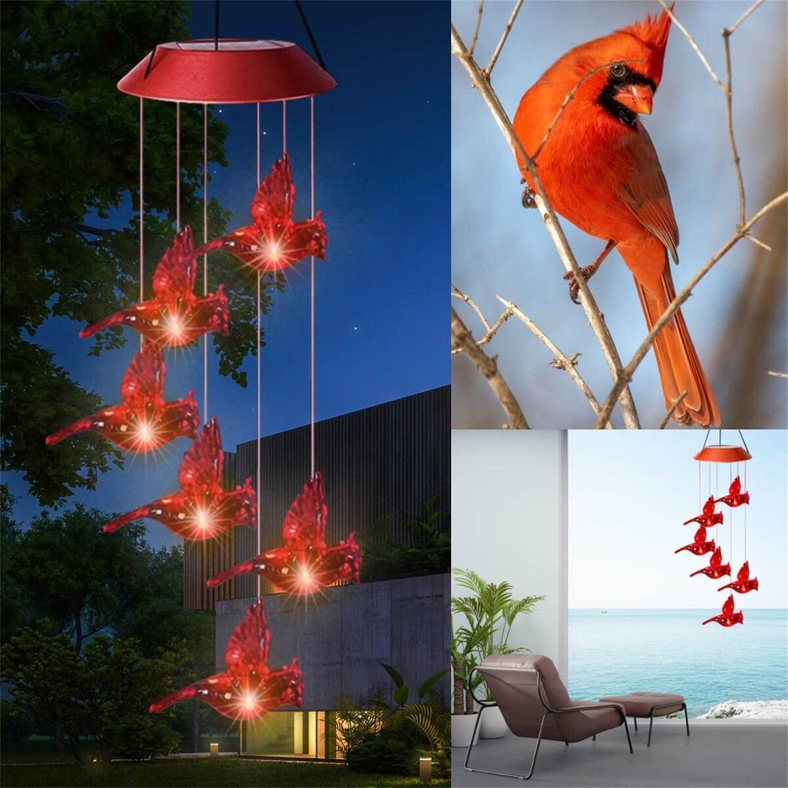 Cardinal Solar Wind Chimes