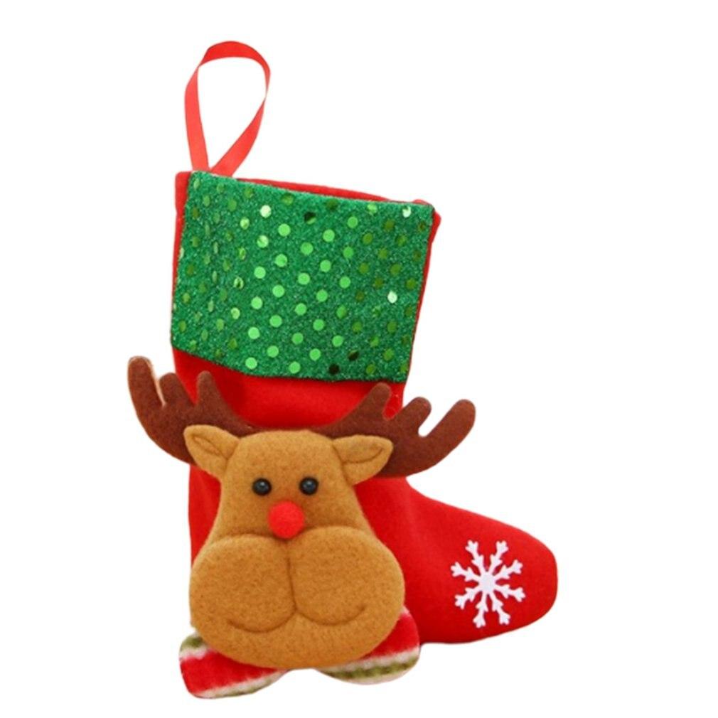 Рождественские украшения, рождественские чулки, Рождественские елочные украшения, рождественские носки со снеговиком, оленем, медведем