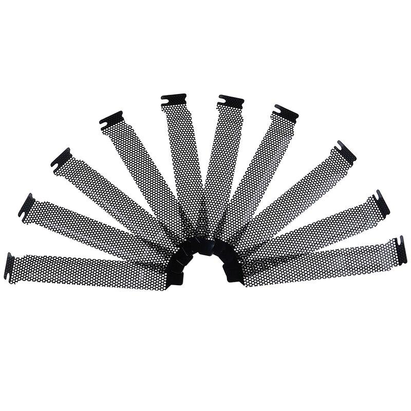PCI Slot Cover Dust Filter 5 Pack Hard Steel Dust Filter Blanking Plate PCI Slot Cover and 5 Pieces Screws Black