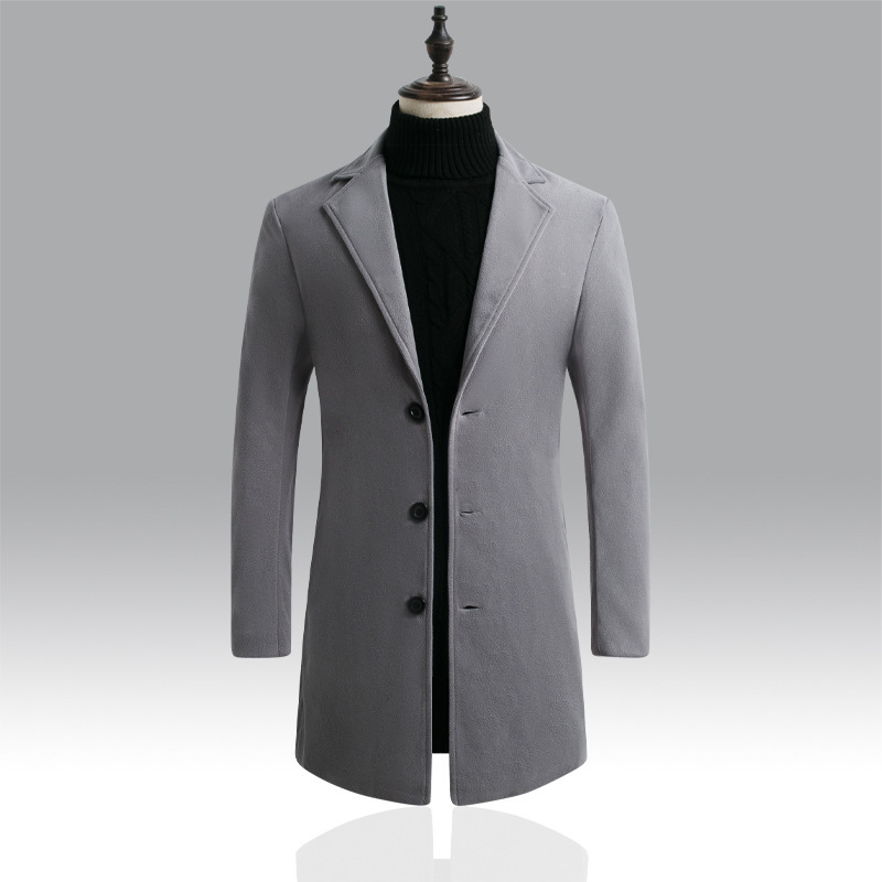 Sfit 2020 Men Wool Blends Coats Autumn Winter New Solid Color High Quality Men's Wool Jacket Luxurious Brand Clothing