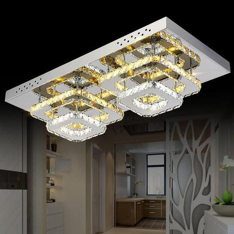 cristal moderno led luminaria teto para