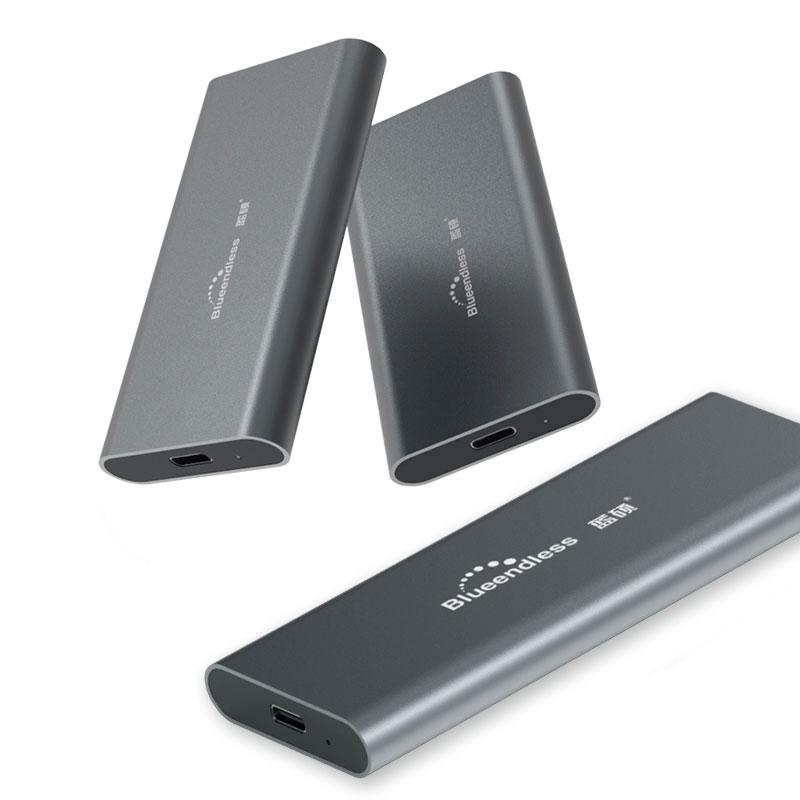 M.2 portable ssd hard disk cases type c usb 3.0 msata 2242/2260/2280 hard drive enclosure aluminum hdd external hard drive box(China)