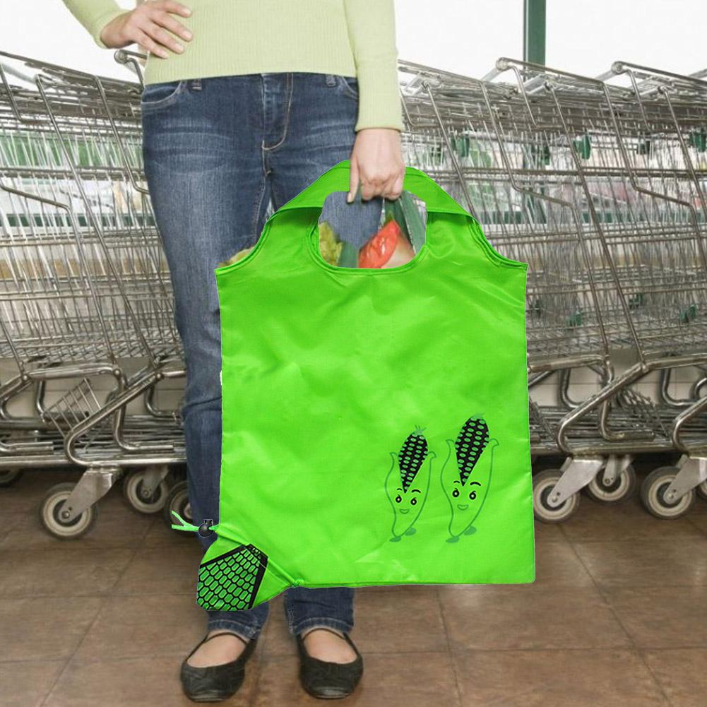 Eco-friendly Storage Handbag Foldable Shopping Bags Durable Convenience Fruit Grocery Bags Travel Pack Large Capacity Home Tote