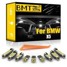 BMTxms dla BMW X5 E53 E70 pojazd LED wnętrze kopuła mapa bagażnik schowek na rękawiczki lustro kosmetyczne zestaw oświetleniowy Canbus akcesoria samochodowe