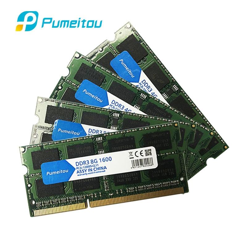 Pumeitou-Memoria RAM DDR3 para ordenador portátil, 4GB, 8GB, 1333 MHz, 1600 Pines, 1,35 V