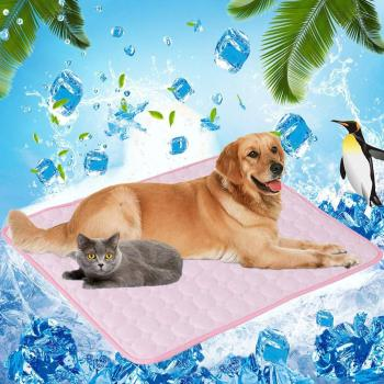 Pet Soft Summer Cooling Mats Pads Breathable Pet Cooling Mat Ice Pad Sofa Cushion Blanket Dog Mat Ice Pad Sleeping Mattress image