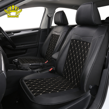 PU leather universal car seat cover artificial suede diamond pattern FIt for most cars high-end luxury car interiors