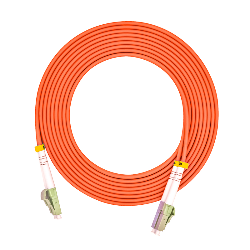 Optical Fiber Patch Cord Cable,LC/PC-LC/PC,3.0mm Diameter,OM1 Multimode 62.5/125,Duplex,LC To LC 100 Meters