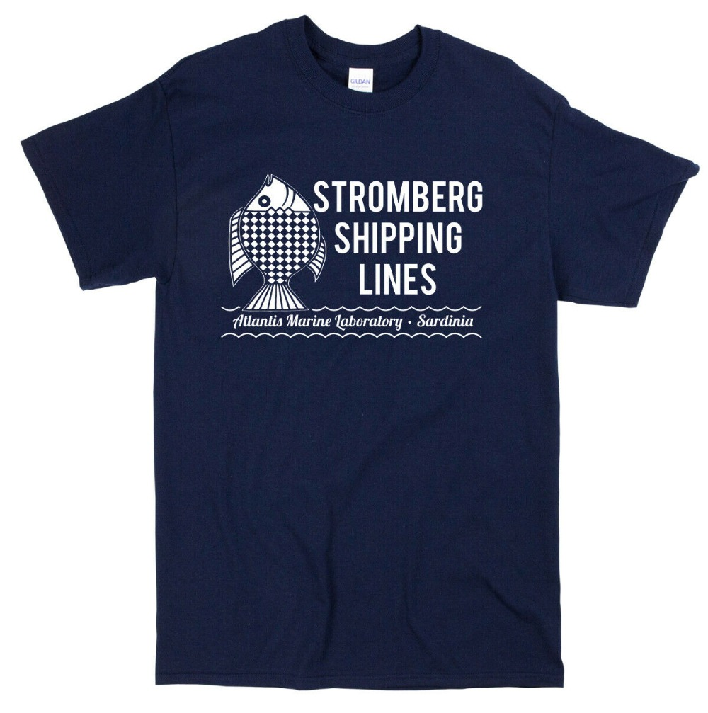 Stromberg Shipping Inspired T-Shirt - 007 Movie Film Retro Mens Tee 2019 Cotton Short-Sleeve image