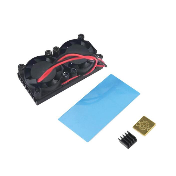 Raspberry Pi 4 Dual Fan With Heatsink Cooling System Double Cooling Fan Cooler Radiator Suitable For Raspberry Pi 3 3B Plus