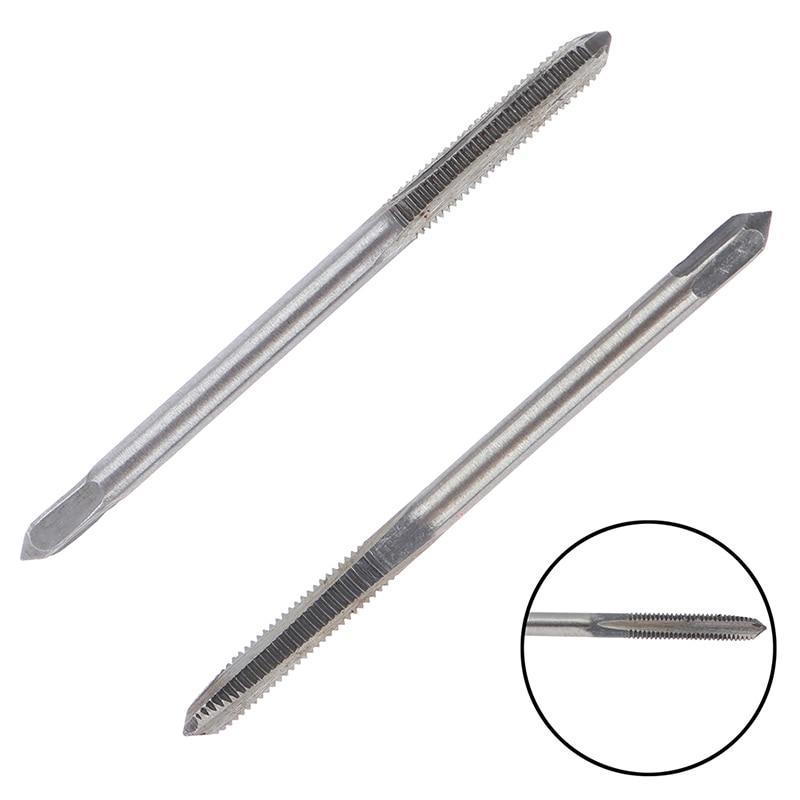 2pcs Straight Fluted Screw Thread Metric Plug Hand Tap Drill Hand M3*0.5mm