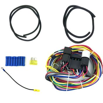12 Circuit Universal Wiring Harness Muscle Car Hot Rod Street Rod XL Wires Durable Wires New