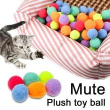 30 pçs bola brinquedo bouncy bola colorida interativa produtos para animais de estimação gatinho jogar mastigar chocalho scratch ball treinamento gato suprimentos