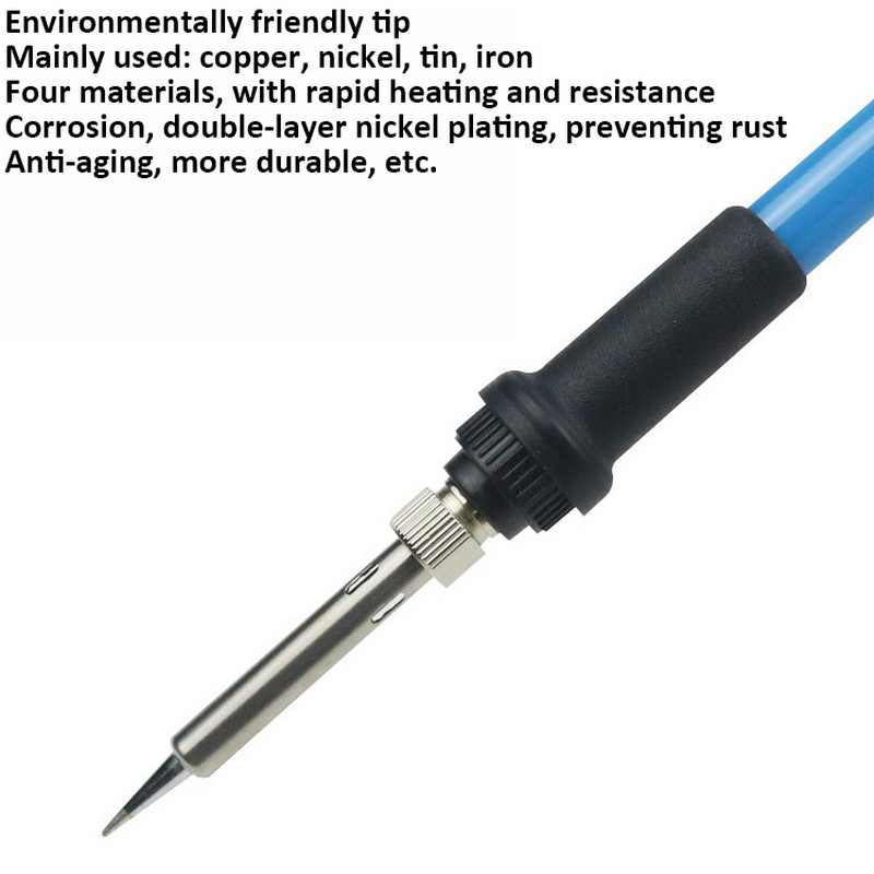 60W 110V 220V Electric Soldering Iron Adjustable Temperature Welding Solder Rework Station Heat Pencil Welding Repair Tool