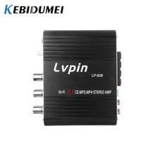 Voiture 3 canaux amplificateur stéréo méga basse LP 838 12V 300W Hi Fi connecter avec téléphone PC lecteur DVD MP3 MP4 Portable Subwoofer