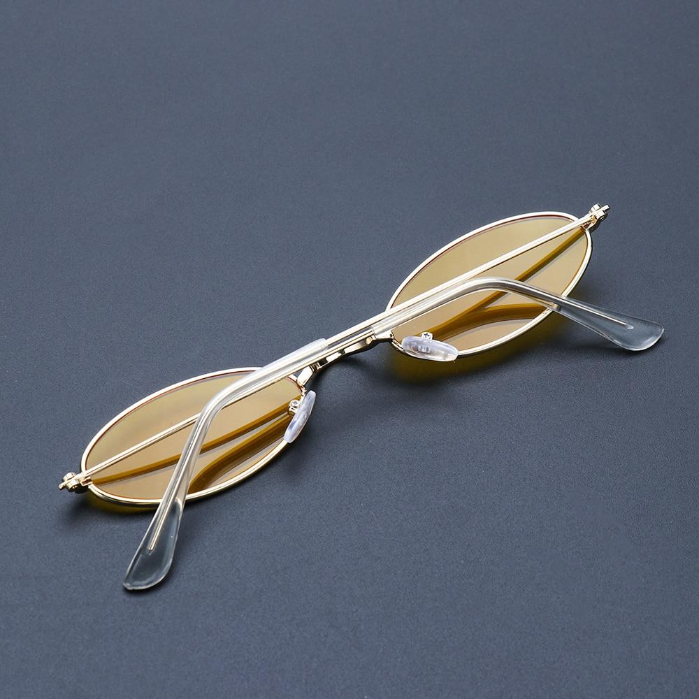 Fashion Vintage Shades Sun Glasses Elegant okulary Retro Small Oval Sunglasses for Men Women Eyeglasses gafas oculos 5