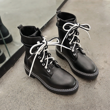 Ankle Boots for Women Black Casual Motorcycle Fashion Winter Spring