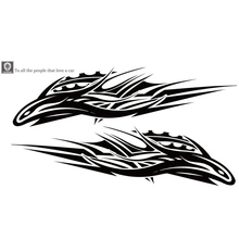 Car Decal 1Pc  Long Stripe Stickers Totem Auto Sticker Car Body Racing Side Door  Auto Vinyl Decal 1pcs team joker clown hood car sticker car body racing side door long stripe stickers auto vinyl decal car engine cover sticker