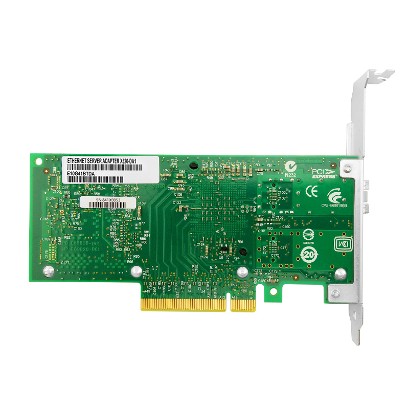 X520-DA1 PCI-E Ethernet Converged Network Card SFP+ 10G PCIe 2.0 X8 Server Adapter with Intel 82599en chip 2
