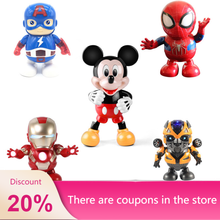Original Disney Dancing Mickey Mouse Figure Action Dazzling Music robot dance music Educational