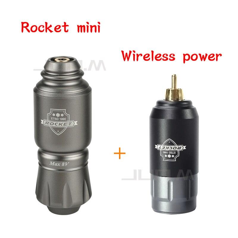 2019 New Tattoo Kit Rocket Mini Rotary Tattoo Machine Pen With Powerful Tattoo Power Supply Mini Wireless Tattoo Set