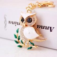 Creative cute cartoon set auger owl car key chain lady handbags accessories