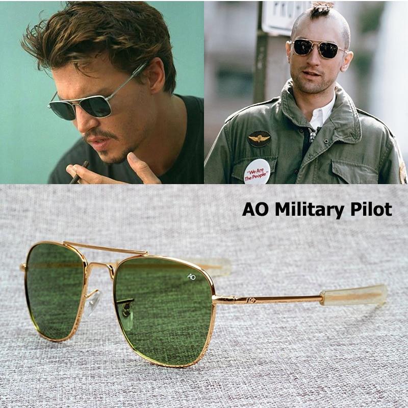 Moda quente aviação óculos de sol dos homens marca designer exército americano militar óptica ao óculos de sol para o sexo masculino uv400 oculos de sol