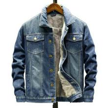 Jeansowa kurtka męska ciepłe dżinsy z polarem jeansowa kurtka zimowa męska kurtka dżinsowa na co dzień znosić mężczyzna moda Streetwear płaszcz Plus rozmiar 5XL tanie tanio FAVOCENT CN (pochodzenie) Pojedyncze piersi Kurtki płaszcze 20200702sf REGULAR STANDARD NONE COTTON Stałe Skręcić w dół kołnierz