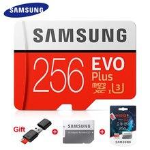 SAMSUNG EVO + PLUS Carte Mémoire 256 GO 128G 64GB 32GB Haute Vitesse 100 MB/s Micro SD U3 Classe 10 Cartes TF UHS-I Micro SD Expédition Rapide