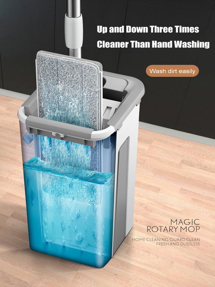ONEUP Mop-Pads Bucket Bathroom-Accessories Floor-Cleaning Microfiber Wringing Flat-Squeeze-Mop