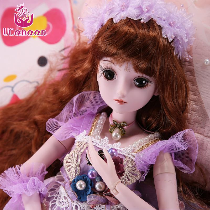 <font><b>1/3</b></font> <font><b>BJD</b></font> <font><b>SD</b></font> Dolls For Girls 19 Ball Joint Doll Clothes Outfit Shoes Wig Hair Makeup For Girls Gift And Dolls Collection <font><b>SD</b></font> Doll image