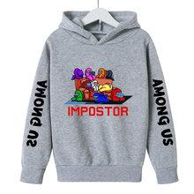 Худи с принтом среди нас, весенний пуловер с забавными играми Impostor, мультяшная Одежда для мальчиков-подростков, свитшот с длинным рукавом дл...