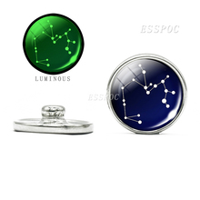 Luminous Constellations Glass Cabochon 18mm Snap Jewelry Botton for DIY