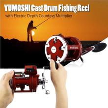 Yumoshi 30 50 Bait Casting Cast Drum Wheel Carp metal bait reel pesca multiplier reels 12+1BB Feeder large Fishing Reels