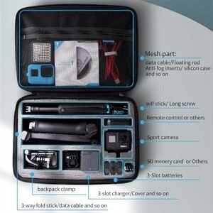 Image 2 - 휴대용 스토리지 가방 Shockproof 운반 케이스 DJI Osmo 액션 보호 상자 GoPro 영웅 8 7 6 5 스포츠 카메라 액세서리