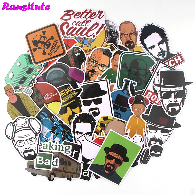 32Pcs/set Breaking Bad Waterproof Phone Label Decoration Stationery Sticker DIY Diary Album Toy Sticker R552