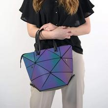 4 in 1 Stylish Luminous Changeable Fluorescent Woman Transformable Purse Lady Fashion Totes