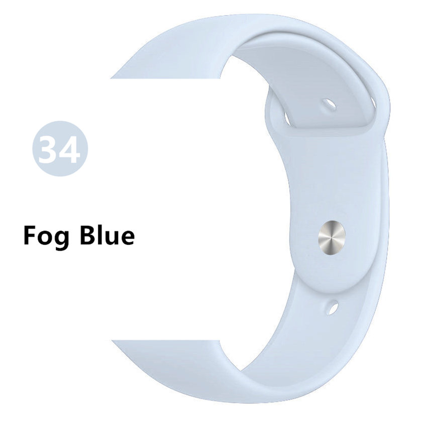 Ремешок для apple watch band 44 мм/40 мм iwatch band 5 4 42 мм 38 мм correa pulseira watch band для apple watch 5 4 3 браслет 44 мм - Цвет ремешка: Fog Blue