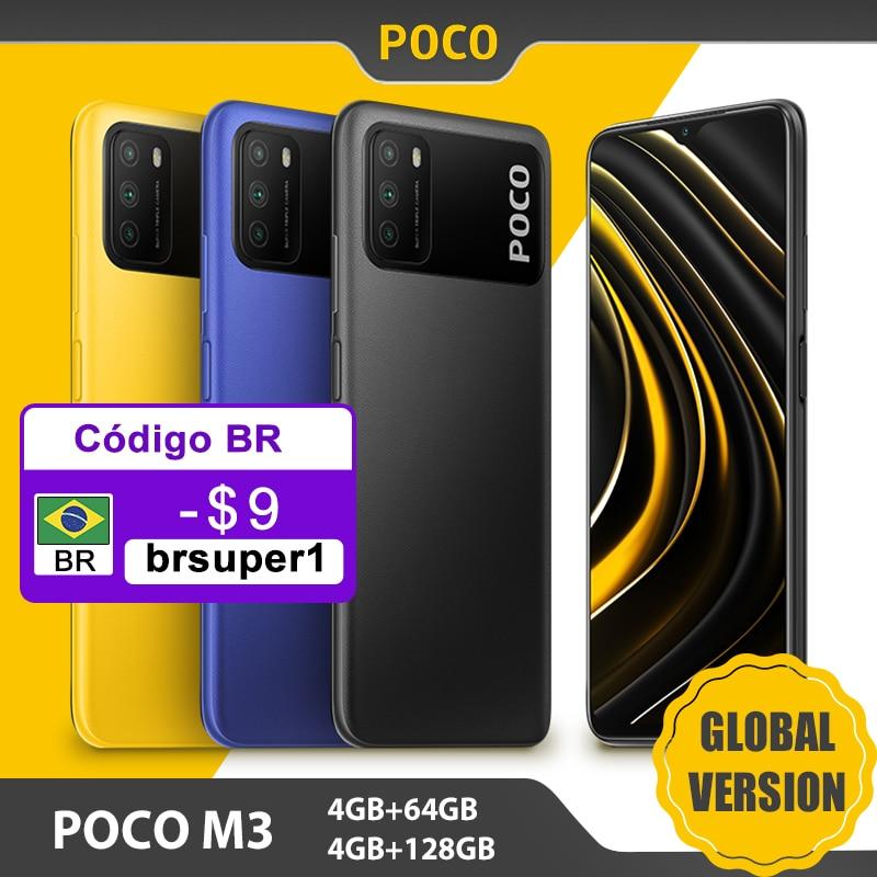 Global Version POCO M3 4GB 64GB / 128GB Smartphone Snapdragon 662 Octa Core 48MP Triple Camera 6.53