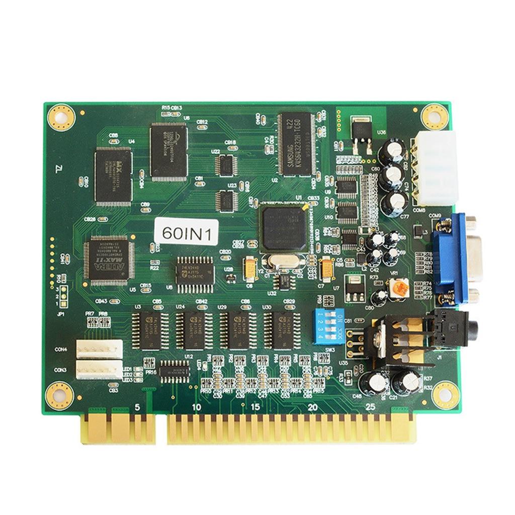 60 en 1 carte de circuit imprimé Multicade CGA/VGA sortie pour classique Jamma Arcade accessoires de jeux vidéo livraison directe