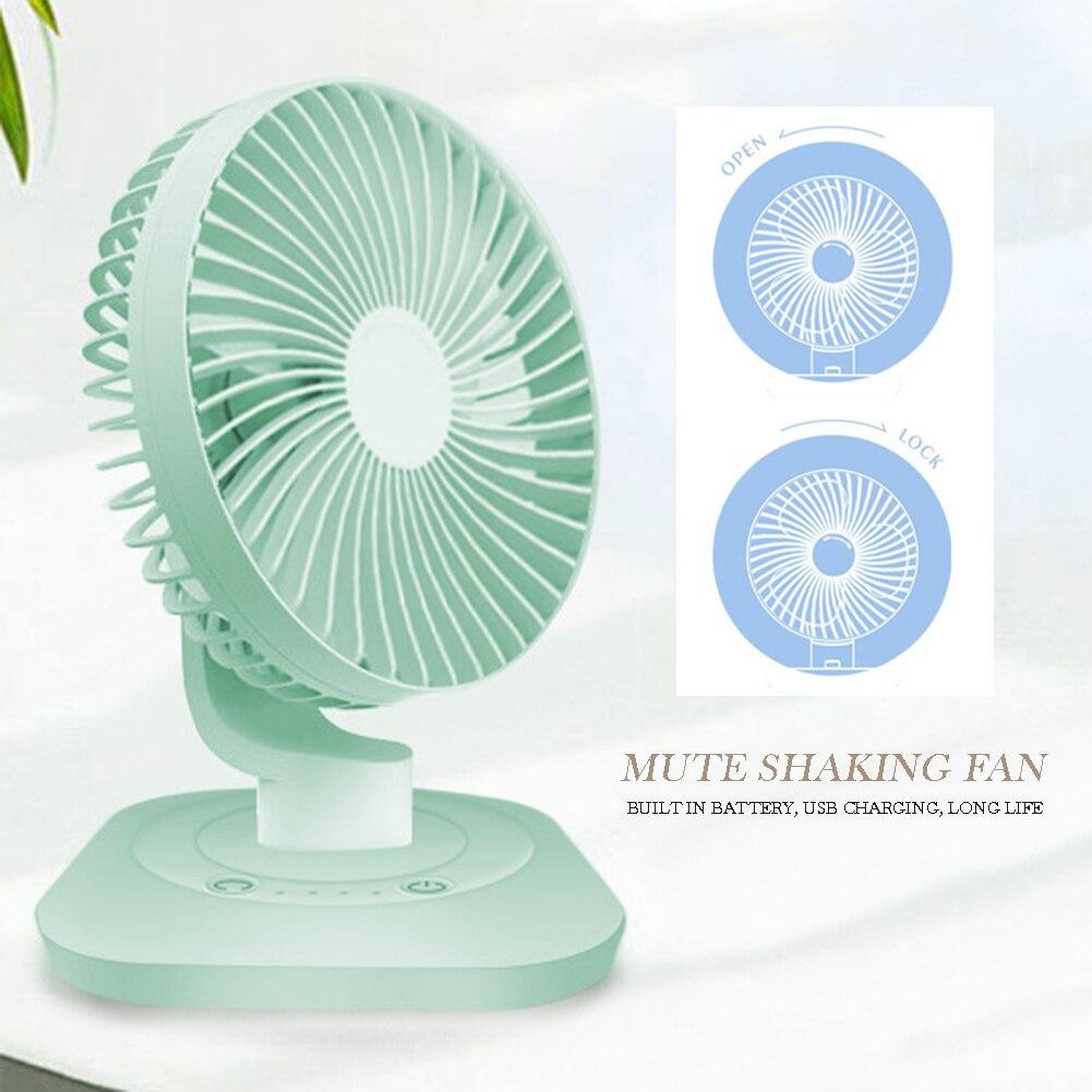 3 Speed Mini USB Desktop Fan Personal Cooling Fan Adjustable Angle Small Fan For Home Office Desk Desk Travel Household Fans