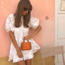2020 Fashion Women 1/2sleeve Lace White Backless Sexy Dress Mini Dress