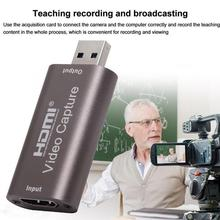 Mini HD 1080P 60fps HDMI to USB Video Capture Card Recording Youtube OBS Game For Computer Streaming Box Broadcast Live J8C5
