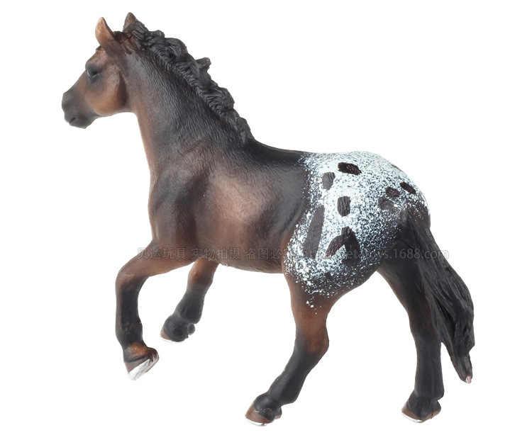 Boutique Hewan Model Mainan Appaloosa Kuda Peternakan Kuda Model Mainan Hewan Garasi Kit Model