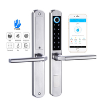 YOHEEN Biometric Fingerprint Door Locks, Electronic Smart Door Lock, RFID Card Password Lock For Aluminum Glass Door