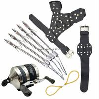High Quality Powerful Fishing Set Diy Professional Arrow Hunting Slingshot Catapult With Stainless Steel Coil Outdoor Shooting